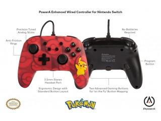 Pokemon Pikachu Kablolu Controller Lisanslı Powera