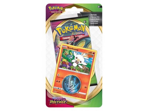 Pokemon Tcg S&s Vivid Voltage Checklane Booster Pack Scorbunny Kart Seti 10'lu