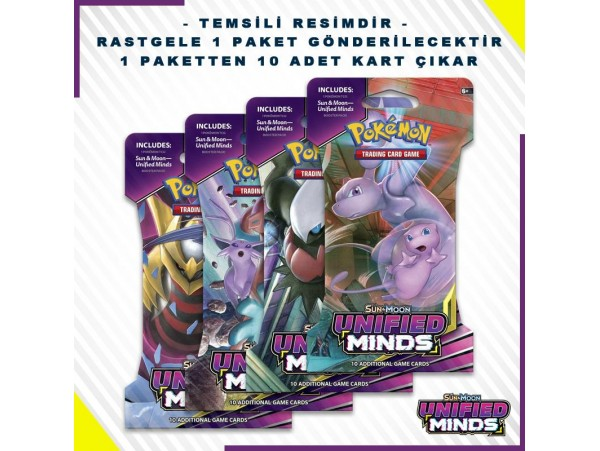 POKEMON TCG: SUN & MOON UNIFIED MINDS BLISTER BOOSTER PACK 10'LU (ORJINAL URUN)