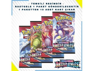 Pokemon Tcg Sword & Shield Battle Styles Booster Pack 10'lu Orjinal Kartlar