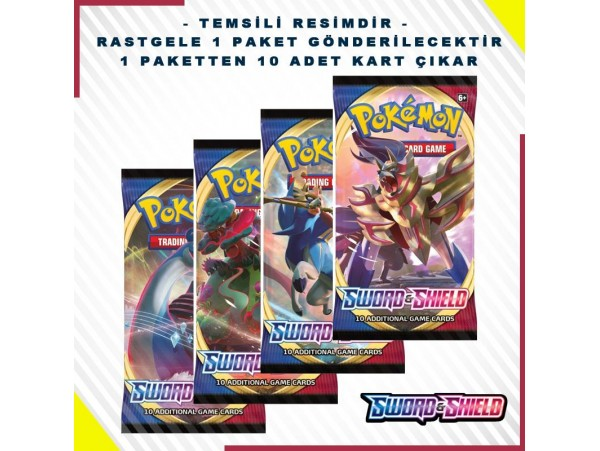 POKEMON TCG: SWORD & SHIELD BOOSTER PACK KART SETI 10'LU (ORJINAL URUN)