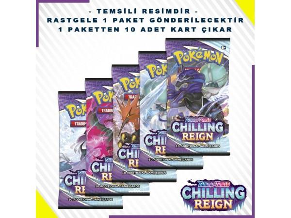 Pokemon Tcg Sword & Shield Chilling Reign Booster Pack 10'lu Orjiinal Kartlar