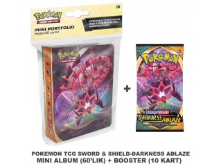 POKEMON TCG SWORD & SHIELD DARKNESS ABLAZE MINI ALBUM + BOOSTER PACK