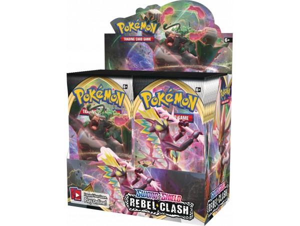 Pokemon Tcg Sword & Shield Rebel Clash Booster Box-36 Paket Orjinal Jelatinde