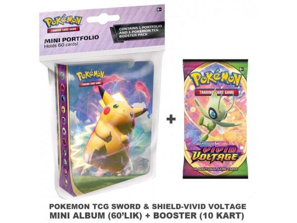 Pokemon Tcg Sword & Shield Vivid Voltage Mini Album + Booster Pack