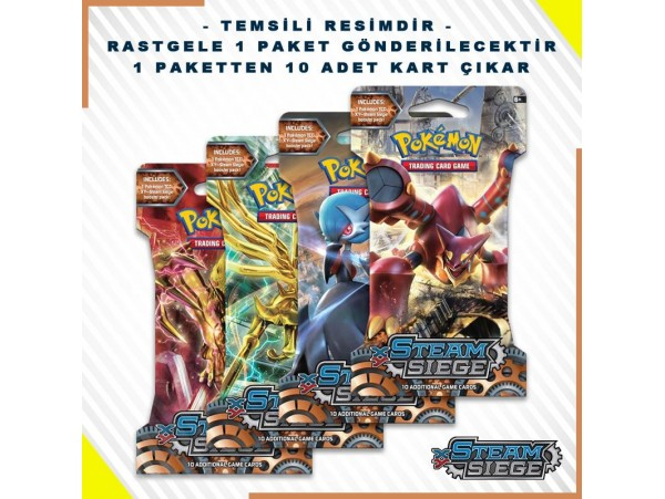POKEMON TCG: X & Y BLISTER BOOSTER PACK STEAM SIEGE KART SETI 10'LU (ORJINAL URUN)