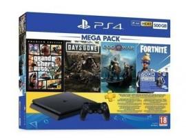 PS4 500GB SLIM KONSOL DG/GOW/GTA5/FT/3AYPLUS SONY EURASIA GARANTILI