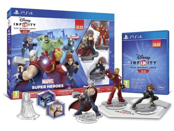 PS4 DISNEY INFINITY 2.0 MARVEL SUPER HEROES AVENGERS STARTER PACK