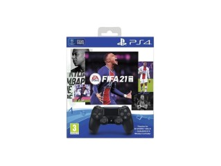 PS4 DUALSHOCK CONTROLLER SIYAH VE FIFA 21 OYUNU