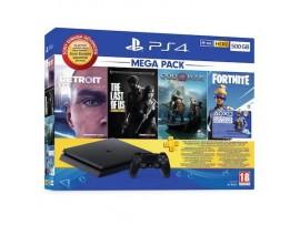 PS4 SLIM 500 GB + DETROIT + THE LAST OF US + GOD OF WAR + FORTNITE +PSN (EURASIA GARANTILI)