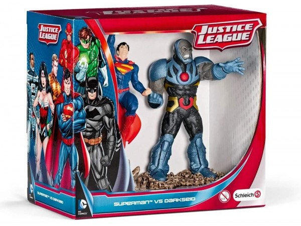SCHLEICH SUPERMAN VS DARKSEID SCNERY SET
