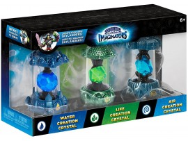 SKYLANDERS IMAGINATORS CRYSTAL 3 PACK 1 WATER LIFE AIR