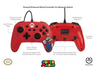 Super Mario Kablolu Controller Lisanslı Powera