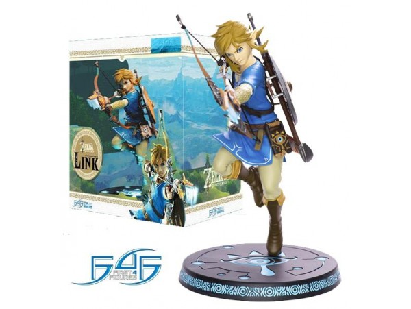 THE LEGEND OF ZELDA BREATH OF THE WILD PVC STATUE LINK 25 CM FIRST 4 FIGURES