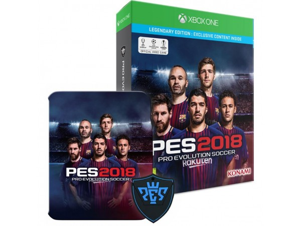 XBOX ONE PES 2018 LEGENDARY EDITION METAL KUTU