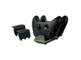 XBOX ONE SPARKFOX DUAL CONTROLLER CHARGING DOCK & BATTERY PACK SIYAH
